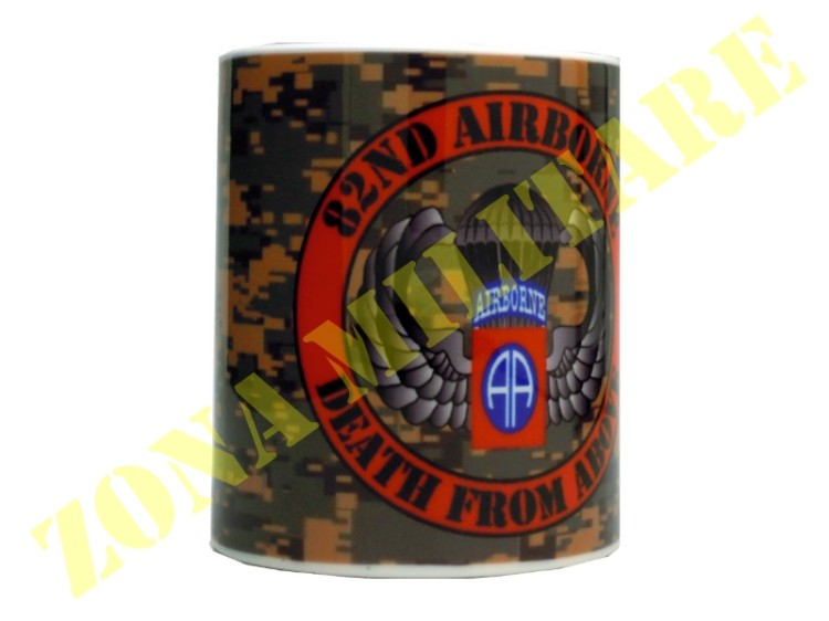TAZZA IN CERAMICA CON STAMPA 82ND AIRBORNE
