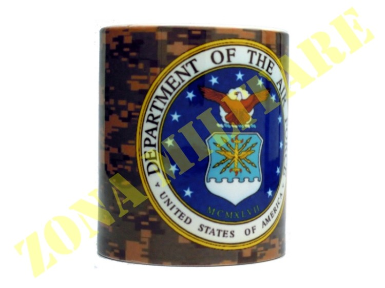 TAZZA IN CERAMICA CON STAMPA AIR FORCE USA