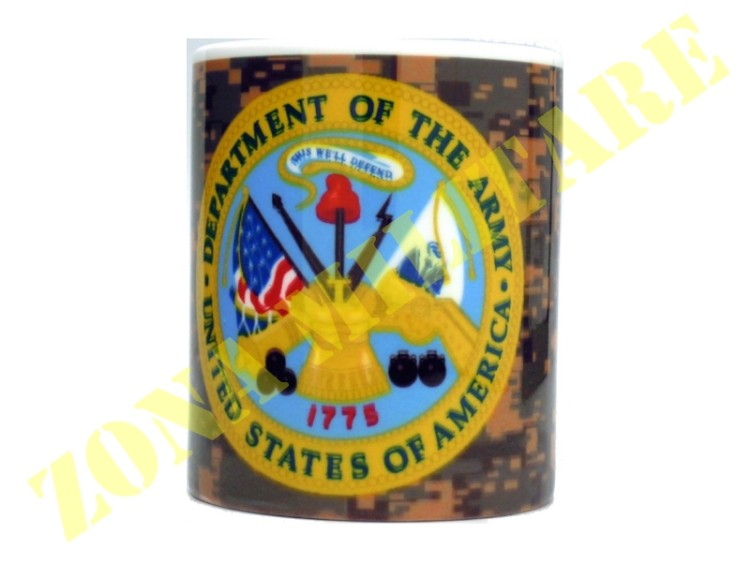 TAZZA IN CERAMICA CON STAMPA ARMY DEPARTMENT