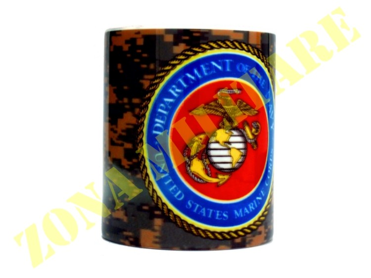 TAZZA IN CERAMICA CON STAMPA MARINES UNITED STATES
