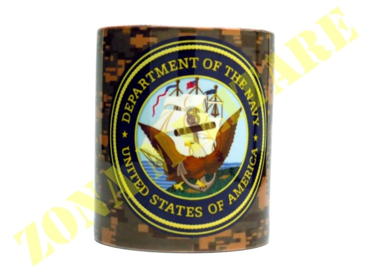 TAZZA IN CERAMICA CON STAMPA NAVY UNITED STATES
