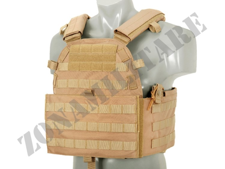 GILET TATTICO MOLLE TACTICAL VEST 6094 COYOTE TOP FLY GEAR