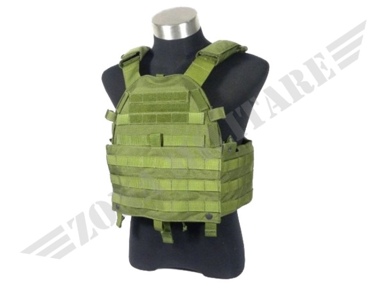 GILET TATTICO 6094 PLATE CARRIER OD GREEN TMC