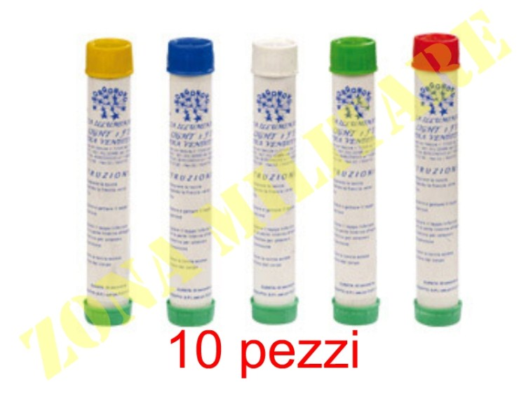 10 TORCE MINI SMOKE 1 ACCENSIONE A SFREGAMENTO