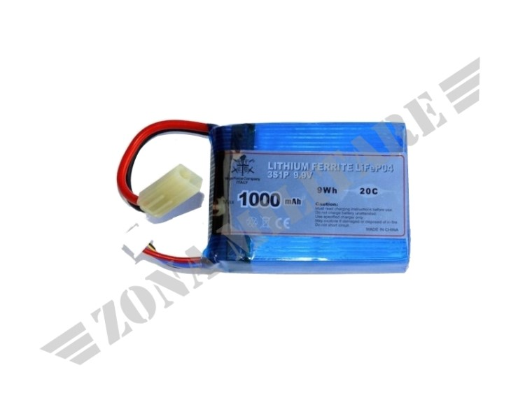 BATTERIA LIFE ACTION BATTERIES 1000 MAH 9,9V 20C