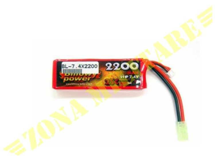 BATTERIA LIPO BILLOWY POWER 7.4V 2200MAH 25C