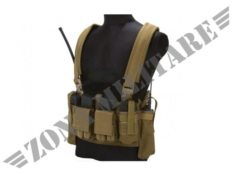 FLYYE LBT M4 TACTICAL CHEST VEST COYOTE BROWN
