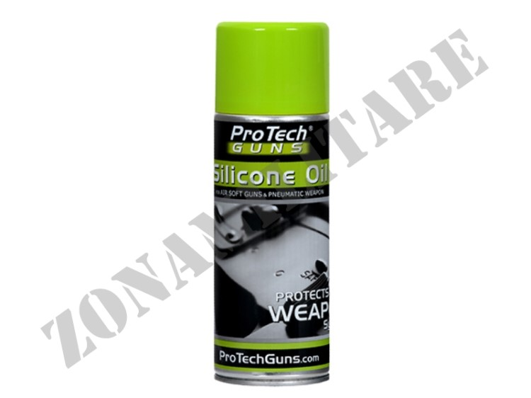 LUBRIFICANTE GUN SILICONE OIL SPRAY 400ML PRO TECH GUNS