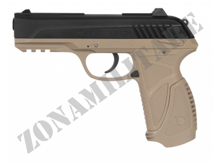 PISTOLA GAMO MODELLO PT-85 CO2 CAL. 4,5 DESERT VERSION