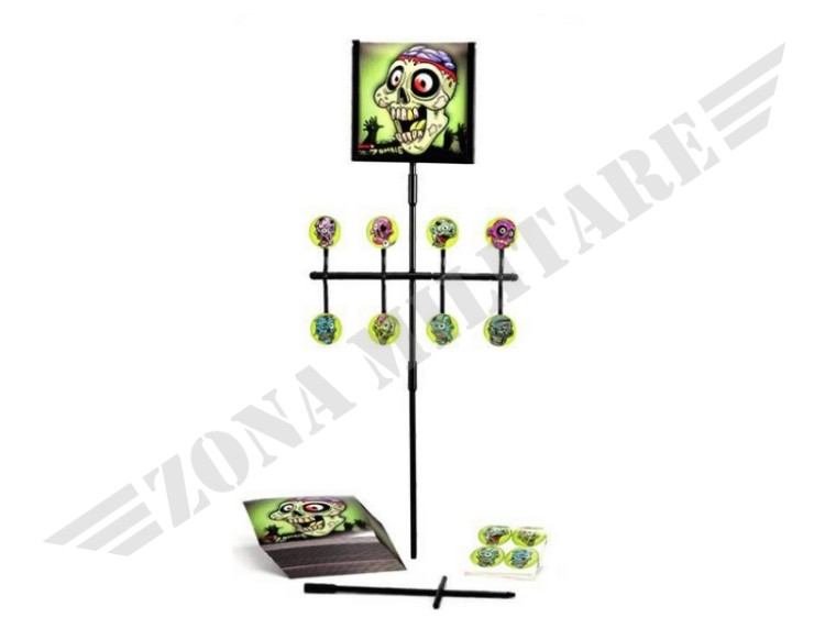 BERSAGLIO ZOMBIE LUXE SPINNER SMONTABILE AD ASTA
