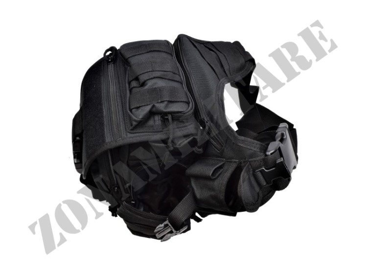 MONOSPALLA JS TACTICAL IN CORDURA COLORAZIONE NERA