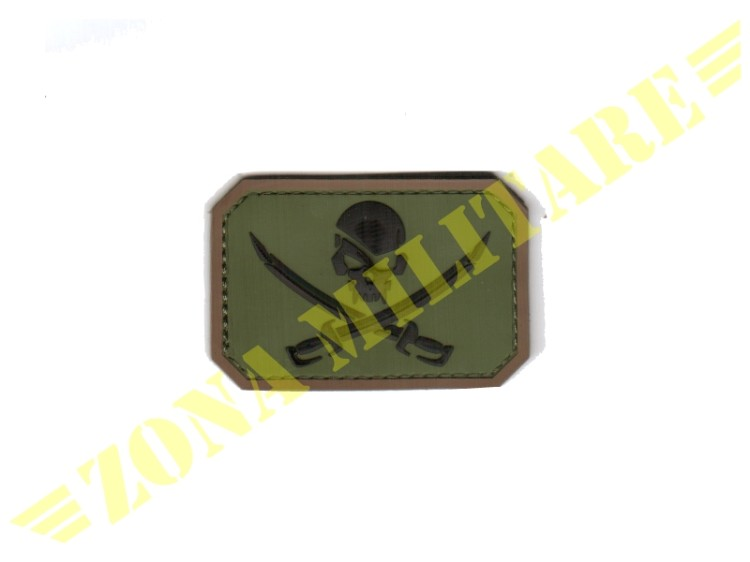 PATCH GOMMATA PIRATE SKULL OD GREEN VERSION