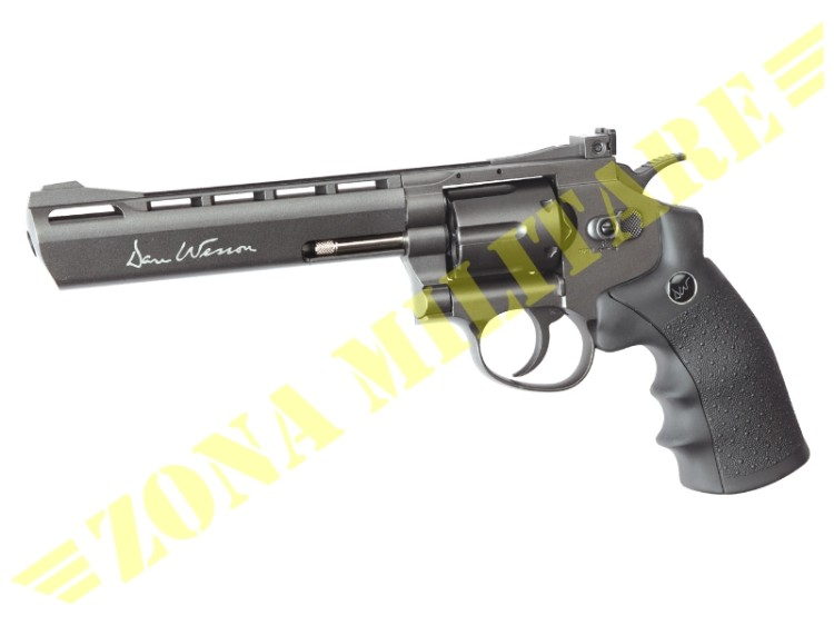 REVOLVER DAN WESSON 6 INCH FULL METAL CO2 BLACK