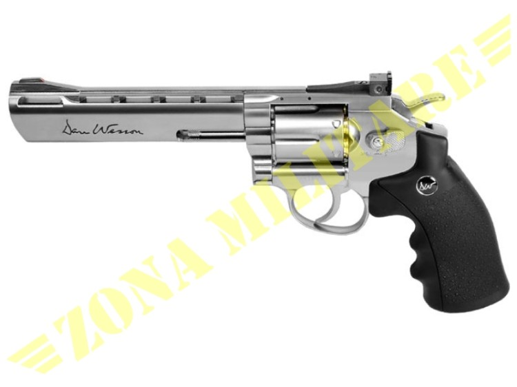 REVOLVER DAN WESSON 6 INCH FULL METAL CO2 CHROME